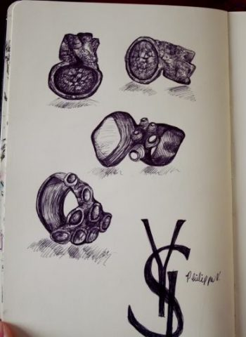 YSL Arty Rings illustration - Cocoskies