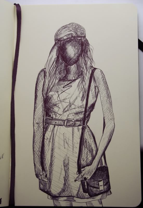 Quick fashion illustration - Cocoskies