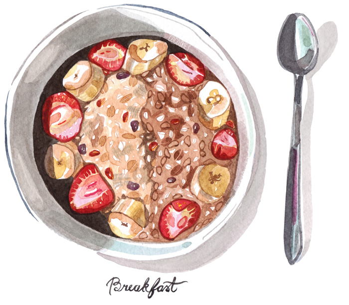 breakfast illustration