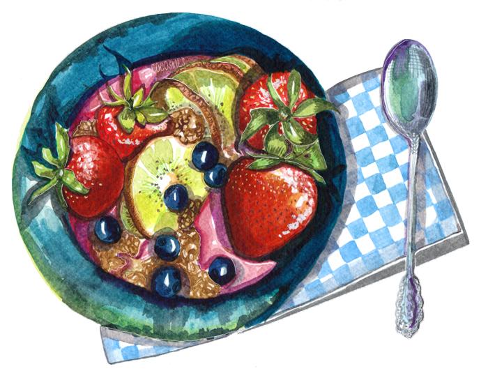 Breakfast II illustration - Cocoskies   Illustration, design & travel blog