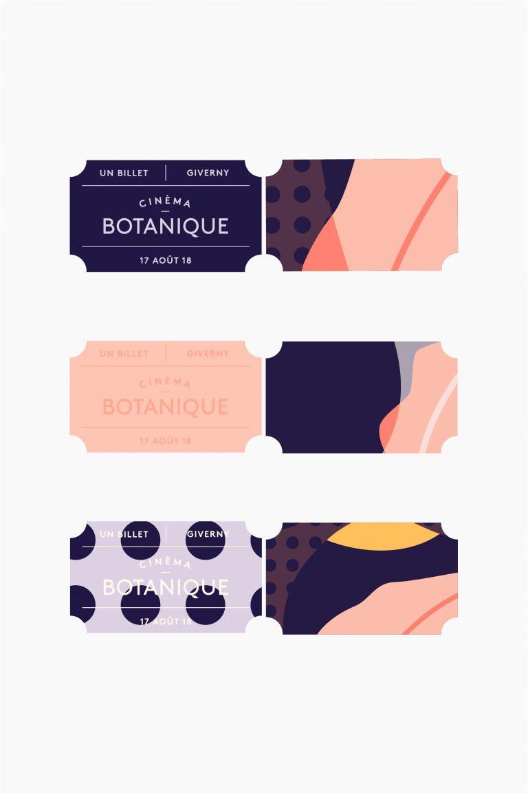 Cinema Botanique Branding - Ticket design - Cocoskies | Illustration, design & travel blog