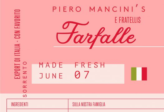 Italian Farfalle Packaging - Cocoskies | Illustration, design & travel blog