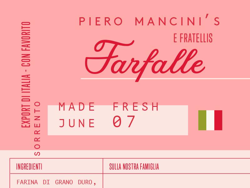 Italian Farfalle Packaging - Cocoskies | Illustration, design & travel blog
