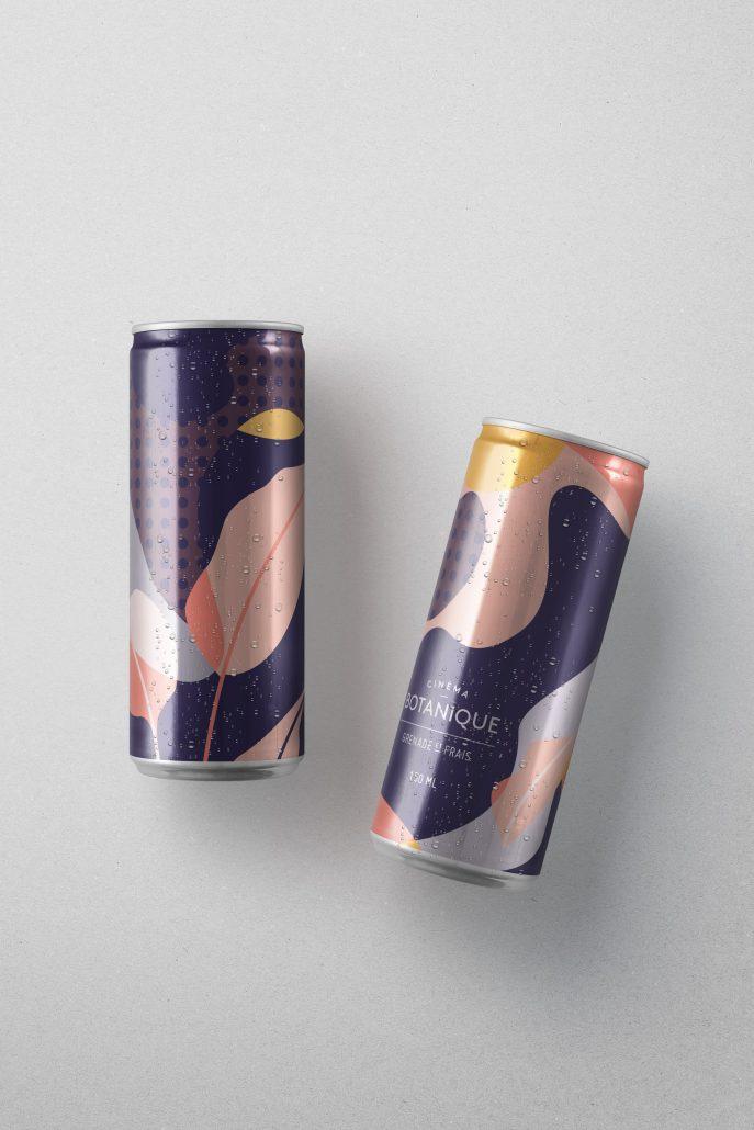 Cinéma Botanique Branding - Drinks can - Cocoskies | Illustration, design & travel blog