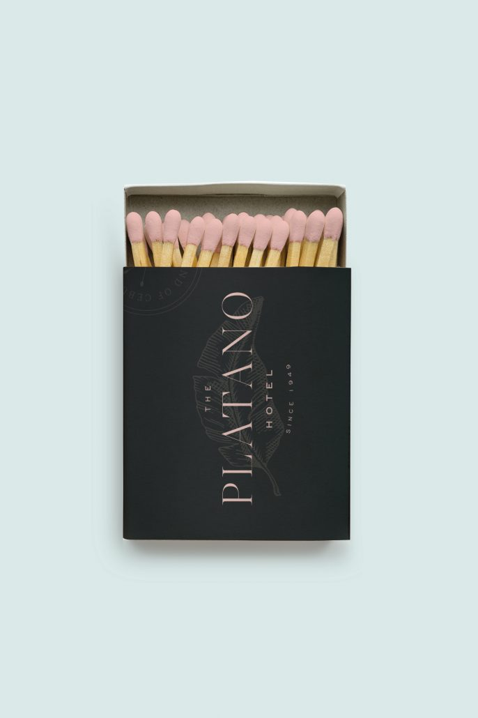 The Platano Hotel Branding - Matchbox - Cocoskies | Illustration, design & travel blog
